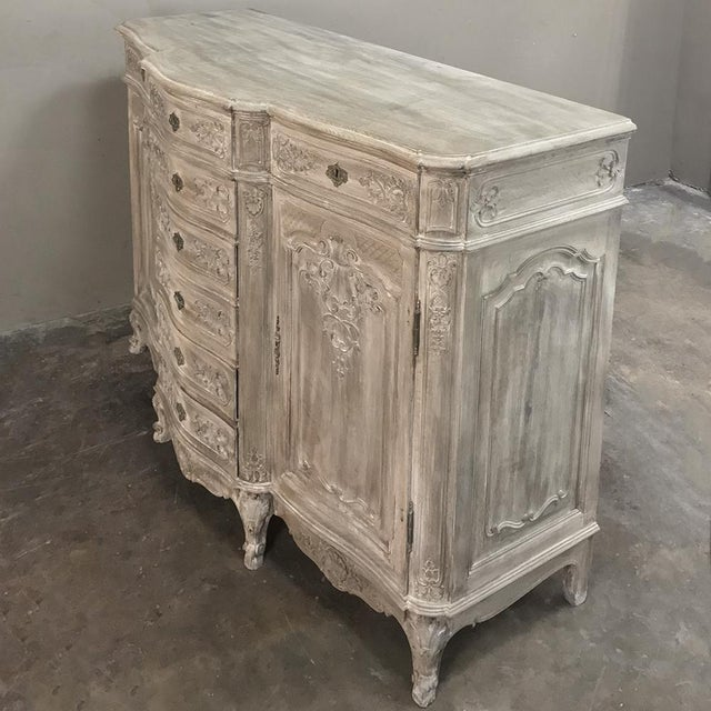 19th Century Liegeoise Regence Whitewashed Buffet For Sale - Image 4 of 5