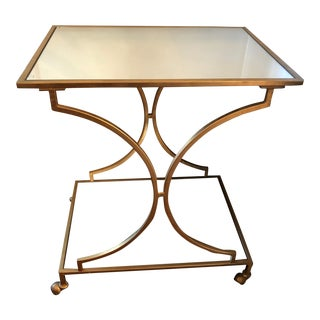 Hollywood Regency Safavieh Home Collection Gold Bar Cart For Sale
