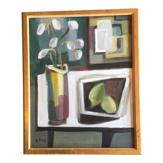 Original Stewart Ross Still Life Modernist Painting