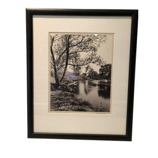 "Vintage Black and White Photograph, ""The Old Swimming Hole"" For Sale"