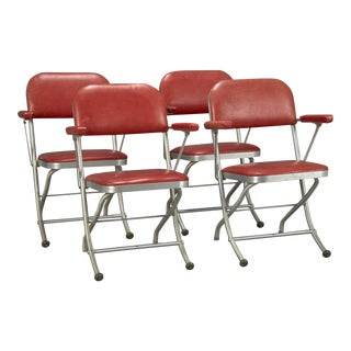 Art Deco Folding Chairs by Warren McArthur for Mayfair Industries For Sale