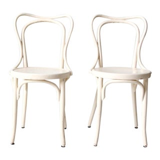 Antique Painted Bentwood Chairs - Set of 2 For Sale
