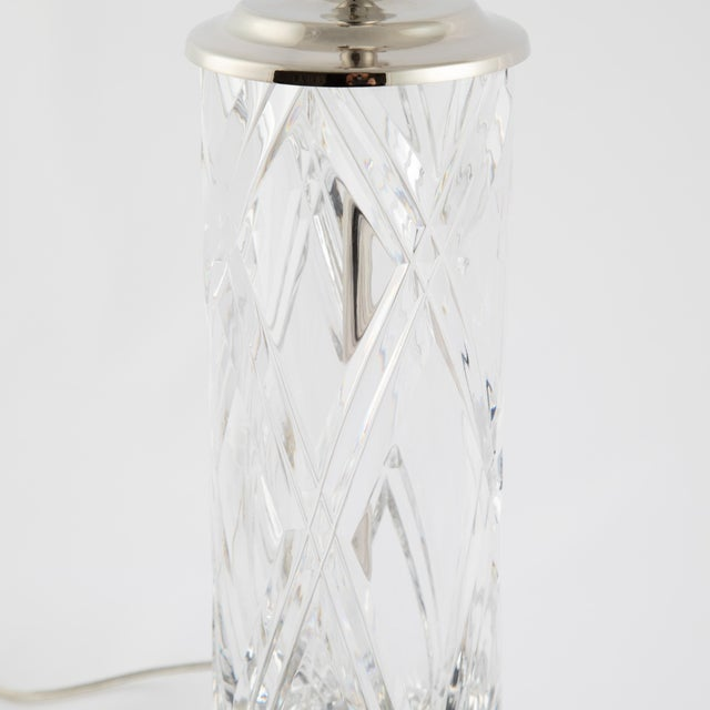 Hollywood Regency Olle Alberius for Orrefors Hand-Cut-Crystal Table Lamps, Circa 1970s For Sale - Image 3 of 13