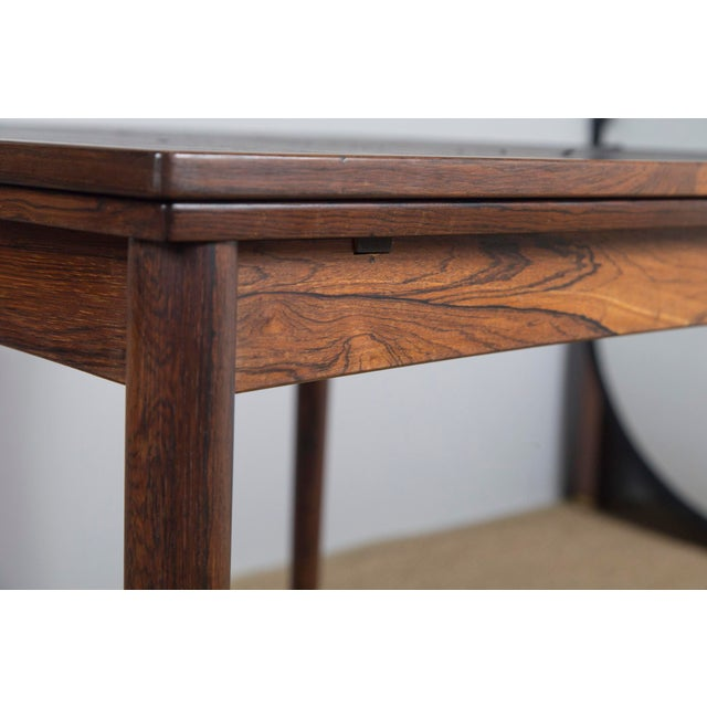 Poul Hundevad Rosewood Game Table & 4 Chairs For Sale - Image 4 of 13