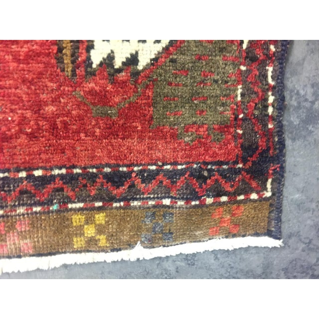 Vintage Turkish Oushak Hand-Knotted Wool Rug - 1' x 4' - Image 6 of 11