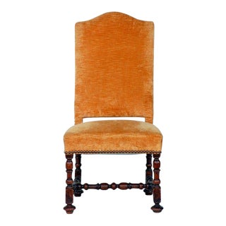 Large Turned Wood Baroque Style Chair For Sale