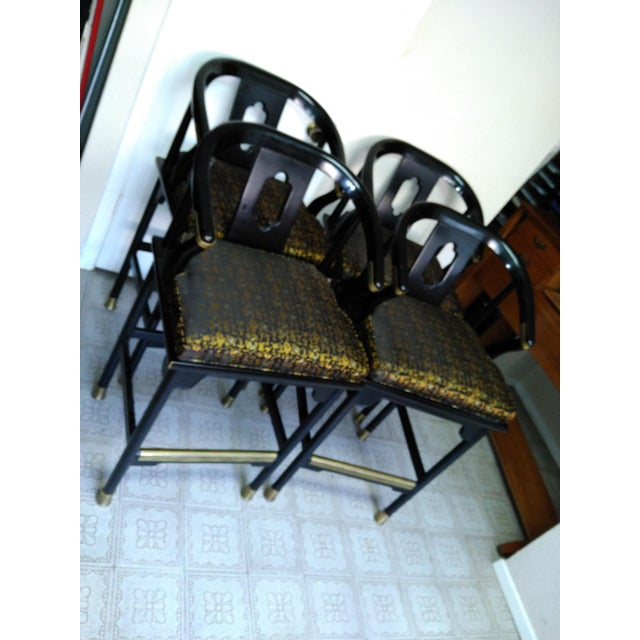 Century Chair Company Hickory Gold & Black Bar Counter Stools - A Pair - Image 10 of 11