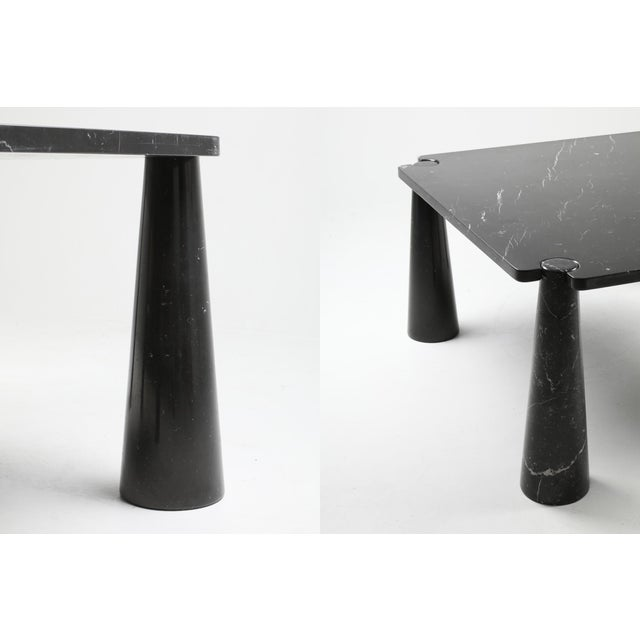 Black Angelo Mangiarotti 'Eros' Square Marble Dining Table For Sale - Image 8 of 9