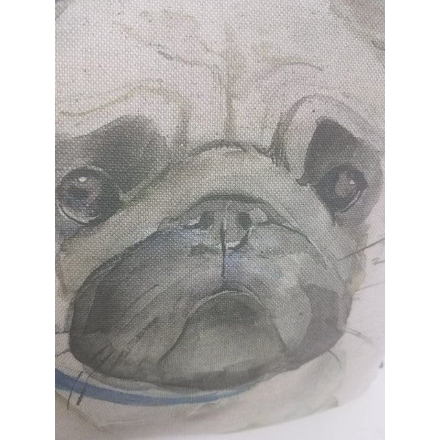 Pug Pillow - Made in Wales, United Kingdom For Sale - Image 4 of 9