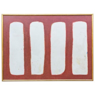 Vintage Large-Scale Abstract Painting on Wood in Gilt Frame After Rothko For Sale