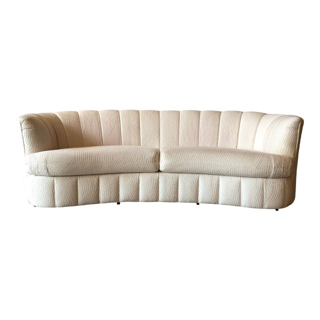 1980s Curved Weiman Sofas Styled After Vladimir Kagan - a Pair For Sale