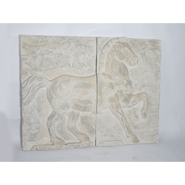 White Fiberglass Horse Wall Art Pieces - A Pair - Image 3 of 7