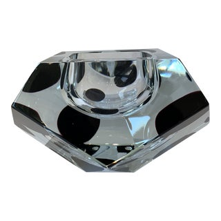 21st Century Spotted Crystal Murano Large Bowl by Alessandro Mandruzzato For Sale