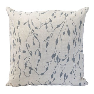 Design No. Five Cape Cod Grey Seaweed Pillow For Sale