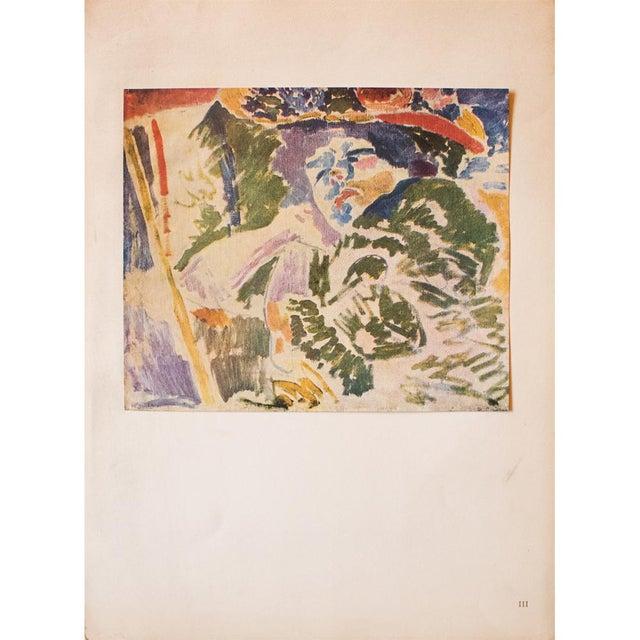 "Green 1948 André Derain, Original Period Lithograph ""The Woman at the Transatlantique"" For Sale - Image 8 of 8"