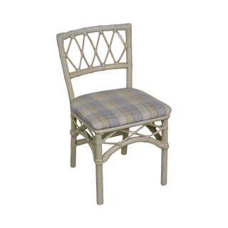 Ficks Reed Vintage White Painted Side Chair For Sale