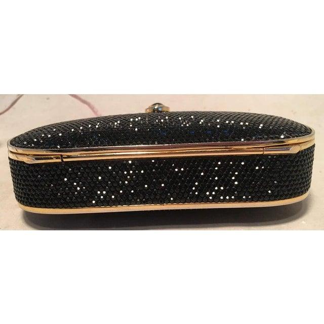 Judith Leiber Judith Leiber Black Swarovski Crystal Minaudiere Evening Bag Clutch For Sale - Image 4 of 9