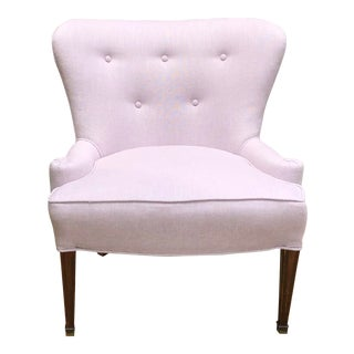 Hollywood Regency Lavender Chair For Sale