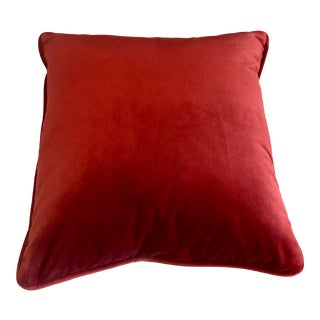 Traditional Red Velvet Pillow For Sale