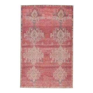 "Vibe by Jaipur Living Evadne Medallion Pink/ Blue Area Rug - 5' x 7'6"" For Sale"