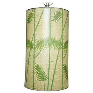 Mid-Century Enameled Cloisonné Tropical Palm Table Lamp For Sale