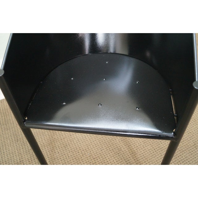 Philippe Starck Aleph Black Metal Chairs - A Pair - Image 7 of 9