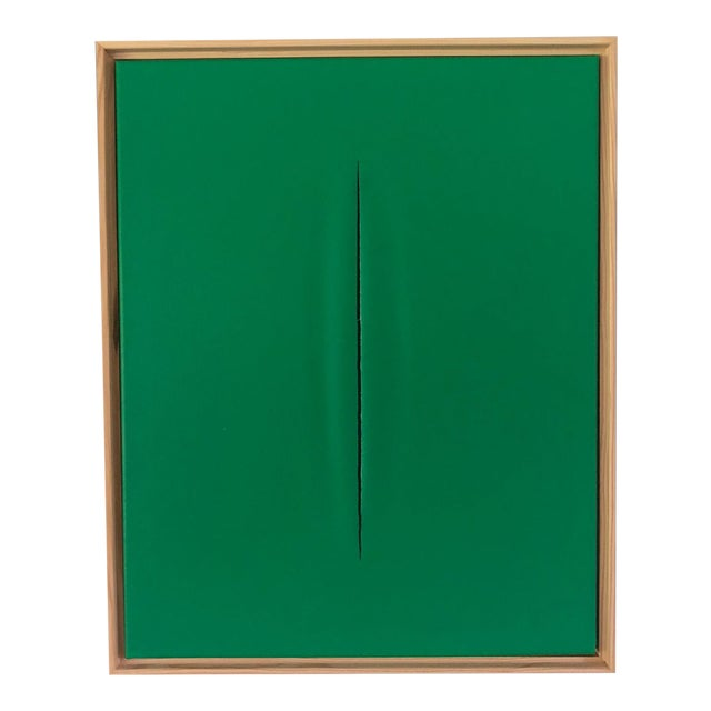 Green Slice Modern Painting by Tony Curry For Sale