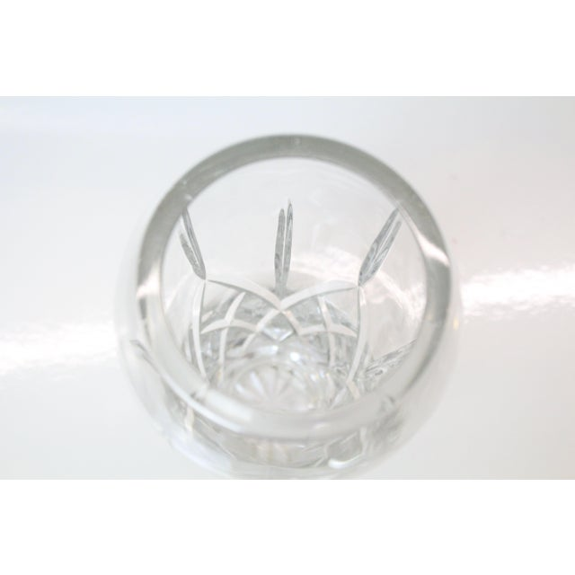 20th century cut glass vase with a elegant, streamline design.