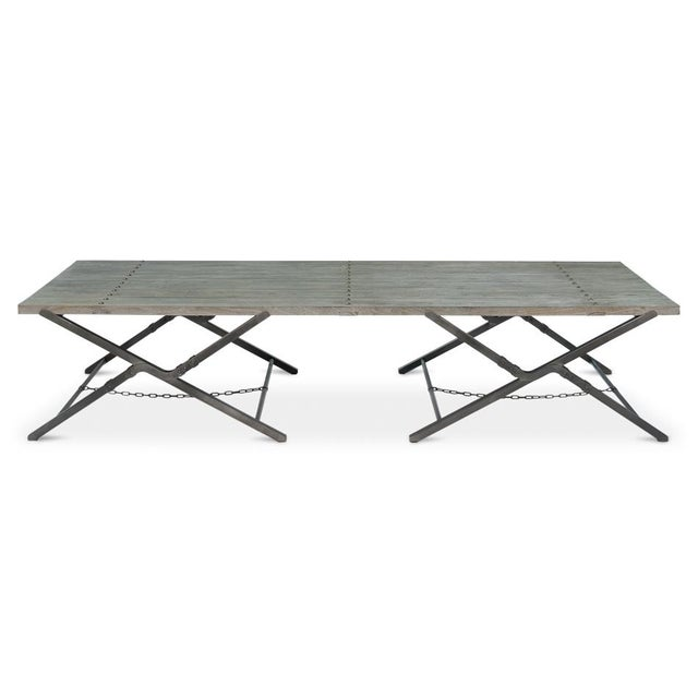 Sarreid Ltd Campaign Low Folding Table - Image 2 of 5