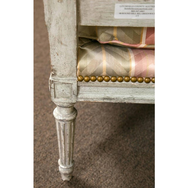 Distressed Paint Louis XVI Style Settee by Jansen - Image 9 of 10