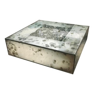 Contemporary Resource Decor Mirrored Cocktail Table For Sale