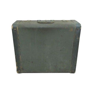 Green Vintage Suitcase For Sale
