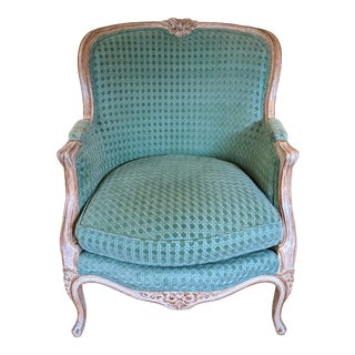1940s French Louis XV Style Bergere Arm Chair For Sale