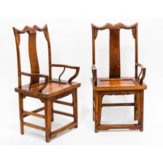 Pair of Japanese High Back Armchairs Preview