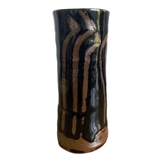 Japanese Ceramic Vase Mingei Style Hamada Shoji For Sale
