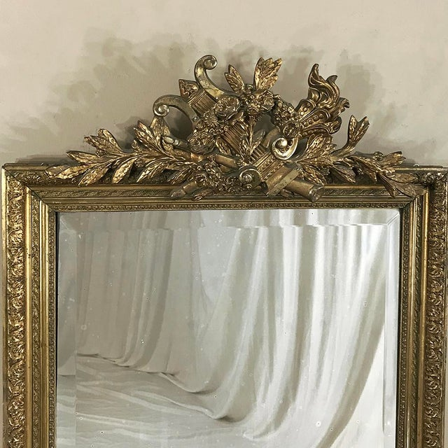 19th Century French Louis XVI Gilded Mirror For Sale In Dallas - Image 6 of 12