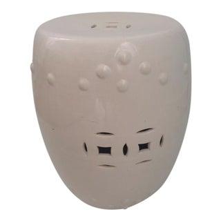Ching Dynasty Blanc Glazed Ceramic Garden Seat For Sale