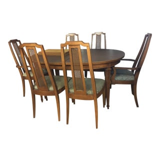 1950s Vintage Lenoir Furniture Company Dining Set- 7 Pieces For Sale