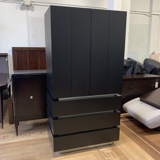 Creative Elegance Black Finish Birch Wood Armoire Preview