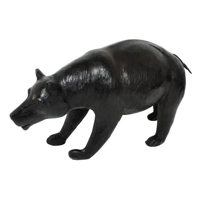 Traditional English 19th Century Leather Bear For Sale - Image 3 of 4