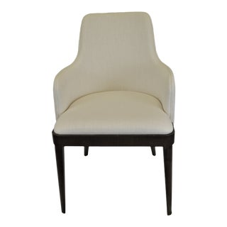 Contemporary Rounded Back Upholstered Armchair, Made in Italy For Sale