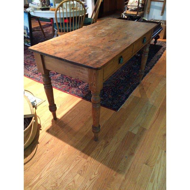 Antique Rustic Pine Console Table - Image 8 of 9