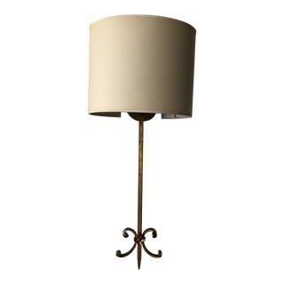 Gold Leaf Iron Wall Lamp For Sale