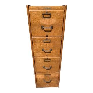 Early 1900's Oak Wagemaker Filing Cabinet For Sale