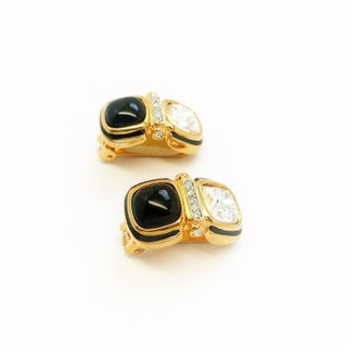 Geometric Clip on Earrings by Kenneth Jay Lane Preview