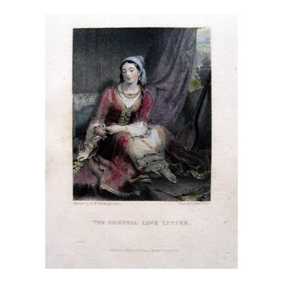 The Love Letter, 1825 Engraving For Sale
