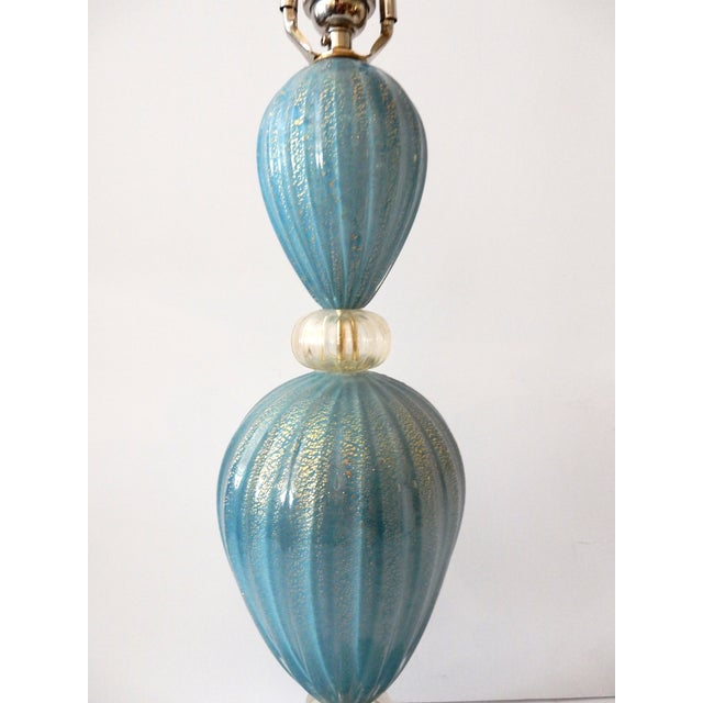 Turquoise Murano Glass Table Lamp - Image 5 of 7
