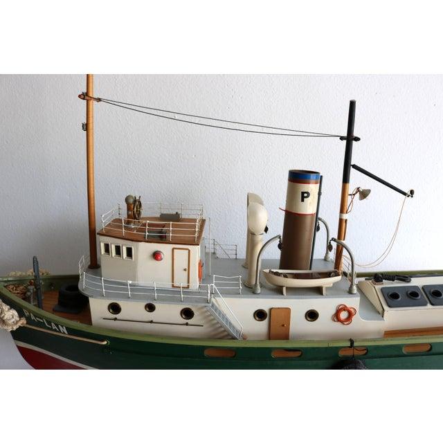 "1950s Artisan Carved Wood Boat Pa-Lan ""Cincinnati"" For Sale - Image 4 of 10"