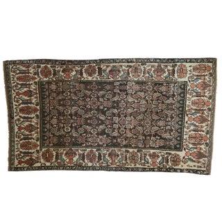 "Vintage Kurdish Bijar Carpet - 5'2"" X 9'"