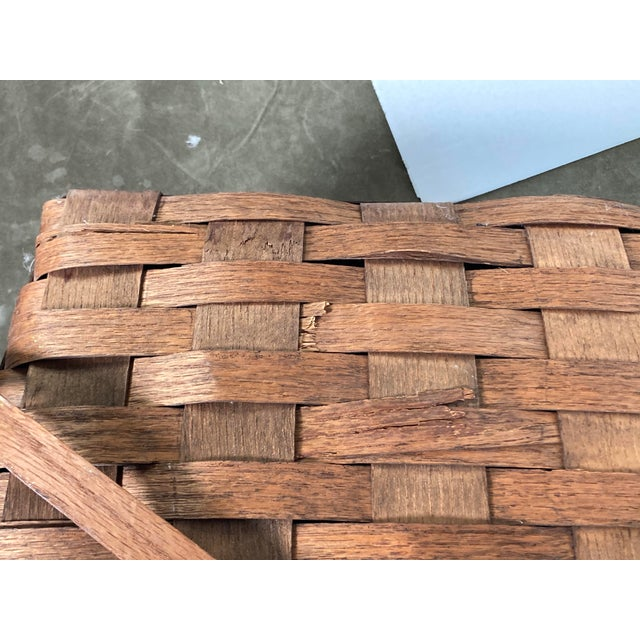 Wood 1920s Rustic Wooden Baskets - Stack of 2 For Sale - Image 7 of 11
